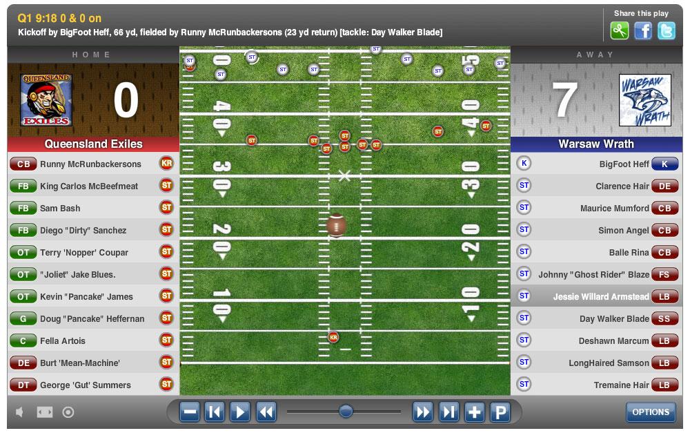 Goal Line Blitz Classic American Football Mmorpg